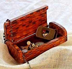 Contemporary Executive Desktop Wood Cigarette Pen Box, Cherry, Cedar, and Walnut