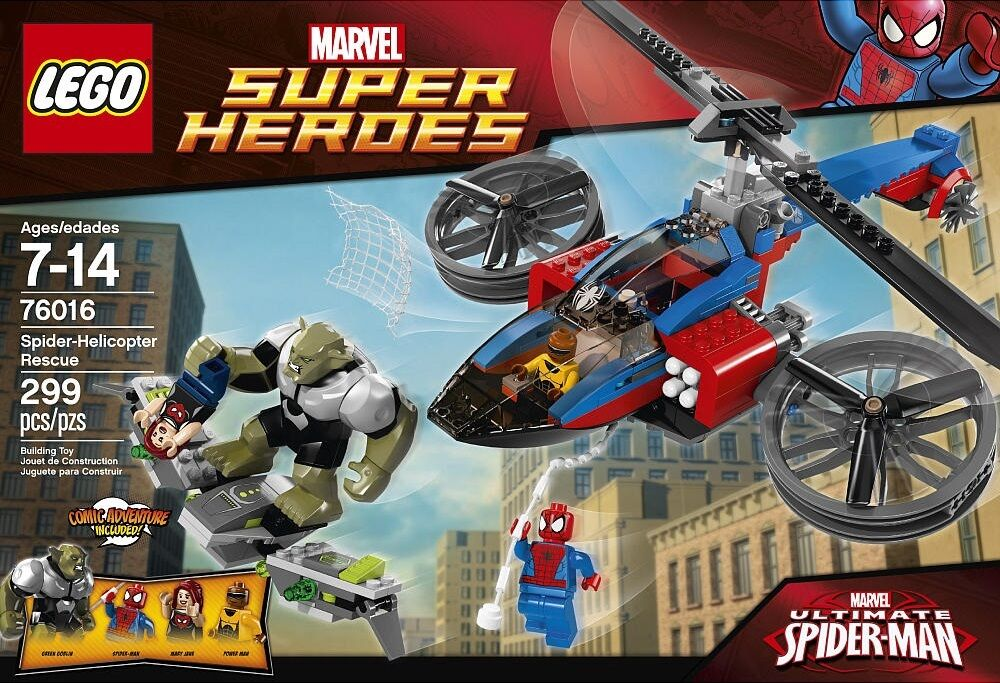 LEGO 76016 Spider-Helicopter Rescue MARVEL Super Heroes NEW Never Opened