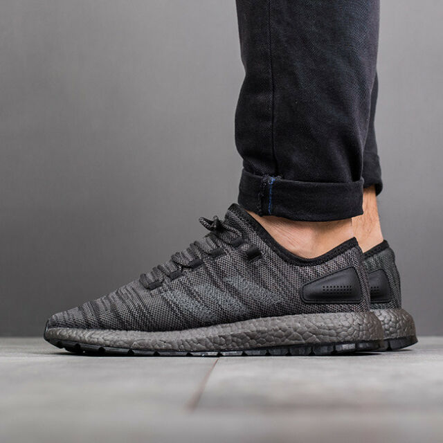 competitive price 6f384 2a43c Mens ADIDAS PUREBOOST x ALL TERRAIN Pure Boost ATR Triple Black Running  Shoes