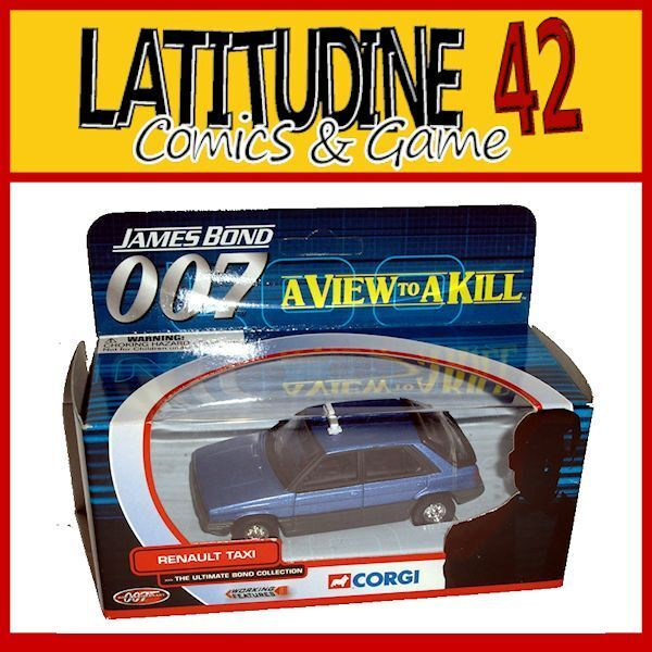 CORGI 007 JAMES BOND CAR REPLICA A VIEW TO A KILL RENAULT TAXI DIE CAST