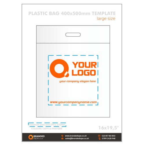 Custom Logo Plastic Carrier Bags Event Bags Personalised