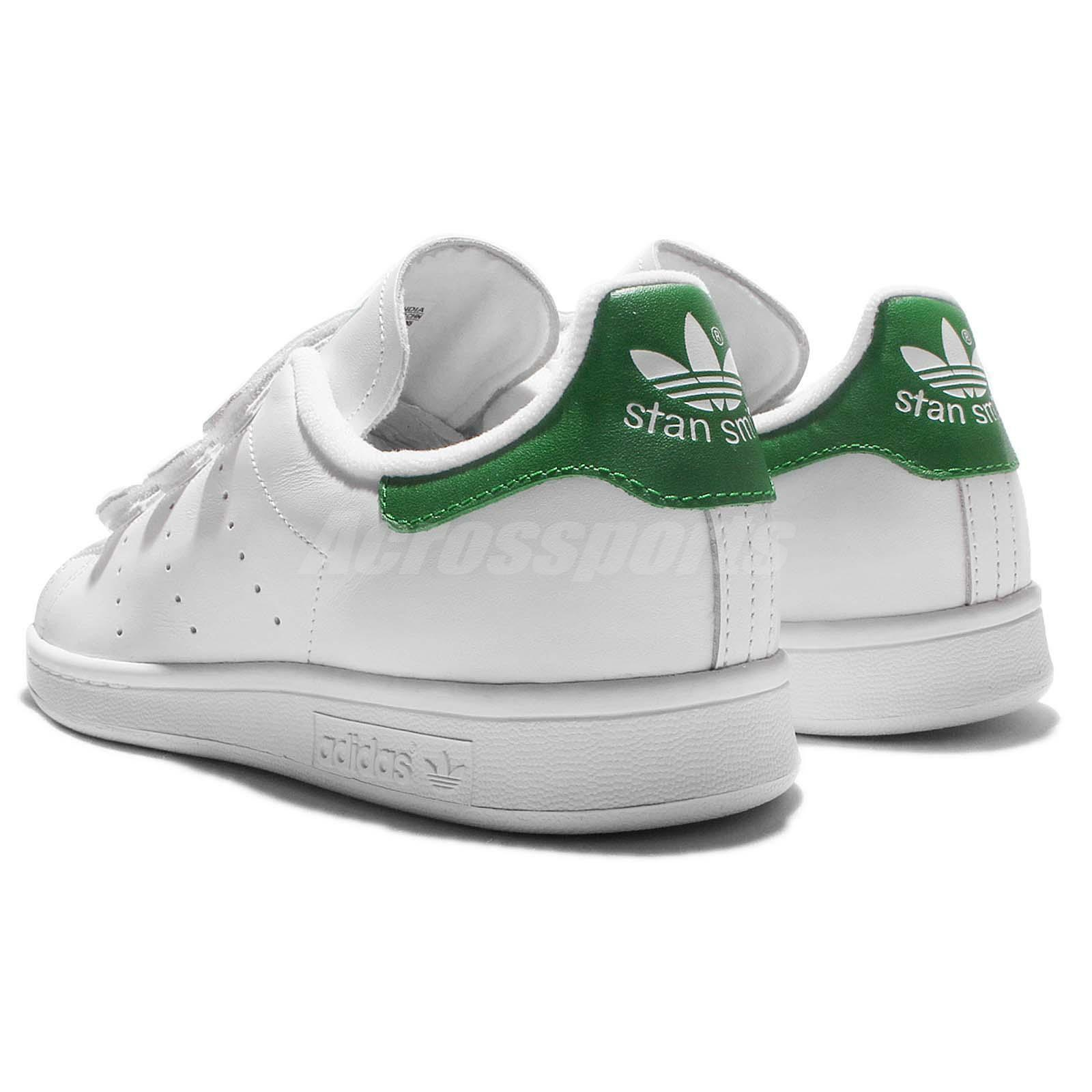 adidas Originals Smith Stan Smith Originals CF White Green Mens Srap Shoes Sneakers S75187 5a330c