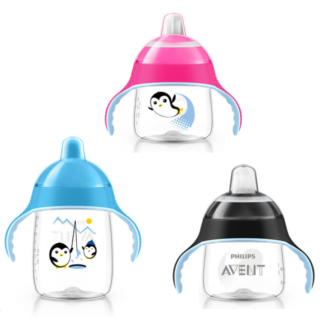 Philips Avent Premium Spout Cup FULL RANGE AVAILABLE PINK, BLUE & BLACK BN