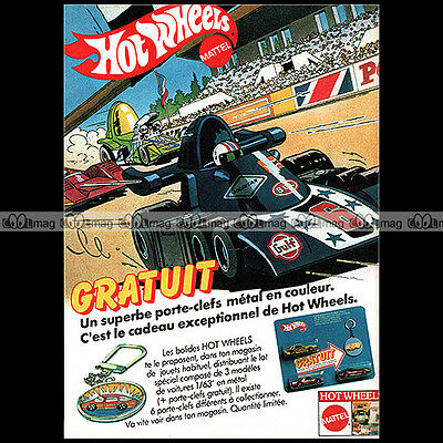 Pub Publicité Advert #a887 HOT WHEELS /'Dual-Lane ROD RUNNER/' Mattel 1970