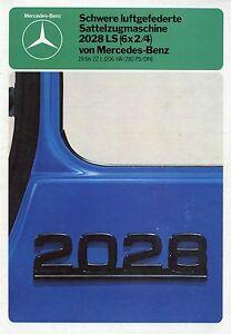 Mercedes-2028-LS-6x2-4-Sattelzugmaschine-Prospekt-1979-8-79-brochure-truck-tract