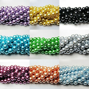 New-100Pcs-Top-Quality-Charms-Czech-Glass-Pearl-Round-Loose-Spacer-Beads