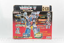 Transformers G1 Raiden C-131 Trainbot MIB Giftset Japanese Takara Complete RARE!