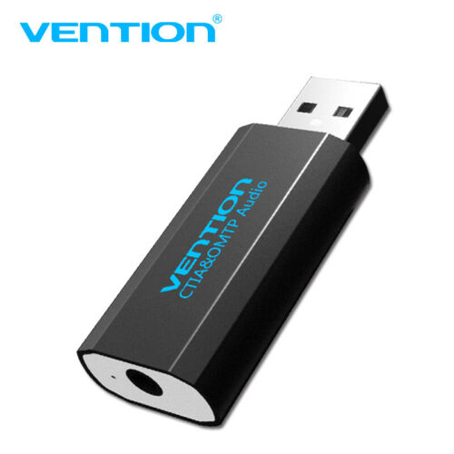 VENTION 3.5mm External USB Sound Card Adapter Audio Card USB To 3.5mm Converter