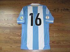 Aguero Argentina Shirt Jersey TechFit Player Issue Match Un Worn WC Qualifiers