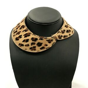 NEW-SISLEY-Leopard-Print-Leather-Statement-Collar-Necklace-Occasion-O-S-161260