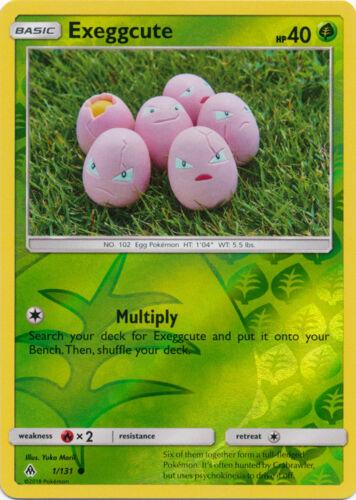 1//131 Common x4 Exeggcute Reverse Holo Pokemon SM6 Forbidden Light M//NM En