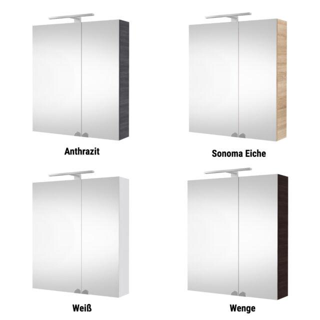 Spiegelschrank Badezimmer Spiegelschrank LED Spiegelschrank 60 cm