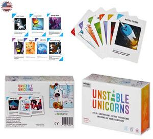 Juego-de-tarjetas-inestable-Unicornios-familia-Regalo-Fiesta-Juego