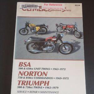 BSA-Norton-Triumph-manual-service-repair-maintenance-1963-1979-Clymer-M330-cycle