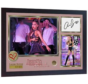Ariana-Grande-pop-R-amp-B-Music-signed-autograph-photo-print-Framed
