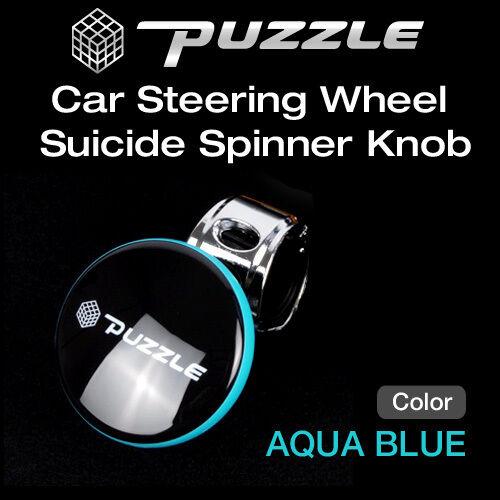 Car Steering Wheel Suicide Spinner Knob Aqua Blue For BMW 2006-2014 Mini Cooper