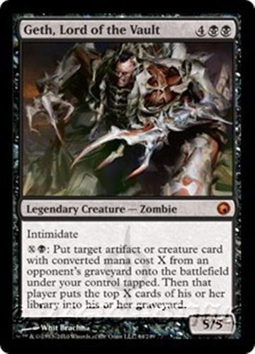 GETH LORD OF THE VAULT Scars of Mirrodin MTG Black  Creature—Zombie MYTHIC RARE