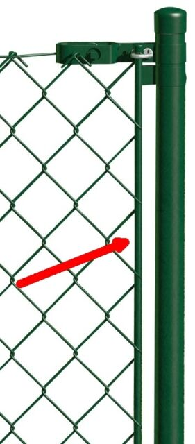 Zaunpfosten Geflechtspannstab Spannstab für Maschendraht-Zaun grün Zaun Stab
