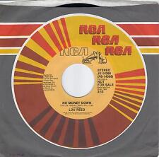 LOU REED  No Money Down  rare promo 45 from 1986