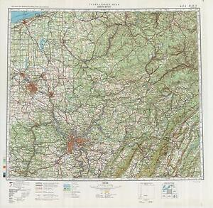Russian Soviet Military Topographic Maps PITTSBURGH USA 1500