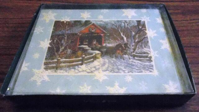 Leanin/' Tree Christmas Card Inventory #1264 Snowy Ranch Scene