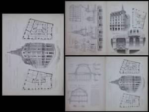 Lausanne, Place De La Louve - 1905 -gravures, Denereaz Spengler,chessex Chamorel