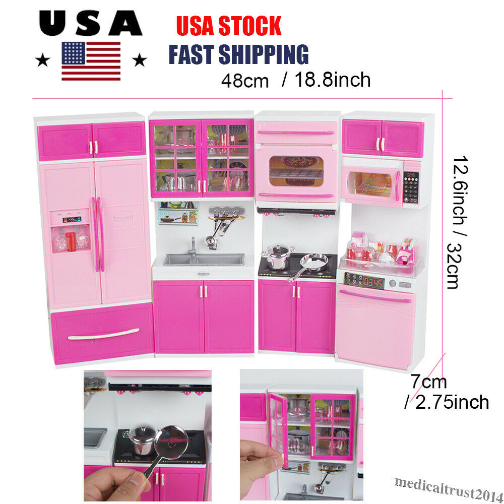 Girls Toys American Plastic Cooking Range Kids Kitchen Set Child Toy Gift Item For Sale Online Ebay