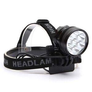 whbage LED Kopflampe 10000 Lumen LED Scheinwerfer Bewegungsmelder Ultra Bright Hard Hat Stirnlampe Leistungsstarker Scheinwerfer USB Wiederaufladbare wasserdichte Taschenlampe