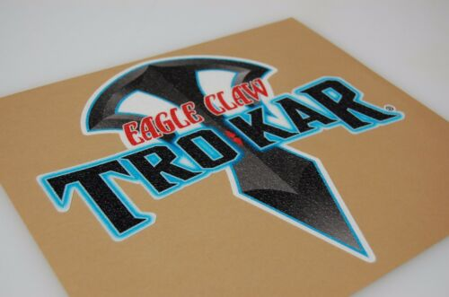 Bass Boat Carpet Graphic Multiple Sizes Eagle Claw TroKar Decal Logo