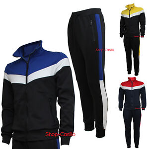 a04d12e665 Dettagli su Tuta Uomo Acetata S M L XL XXL Felpa Aperta Pantalone Sport  Fitness Corsa Palest