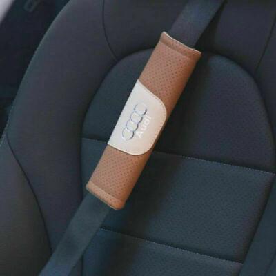 2Pcs High Quality Car Seat Black Belt Shoulder Cushion Cover Pad For Audi Auto