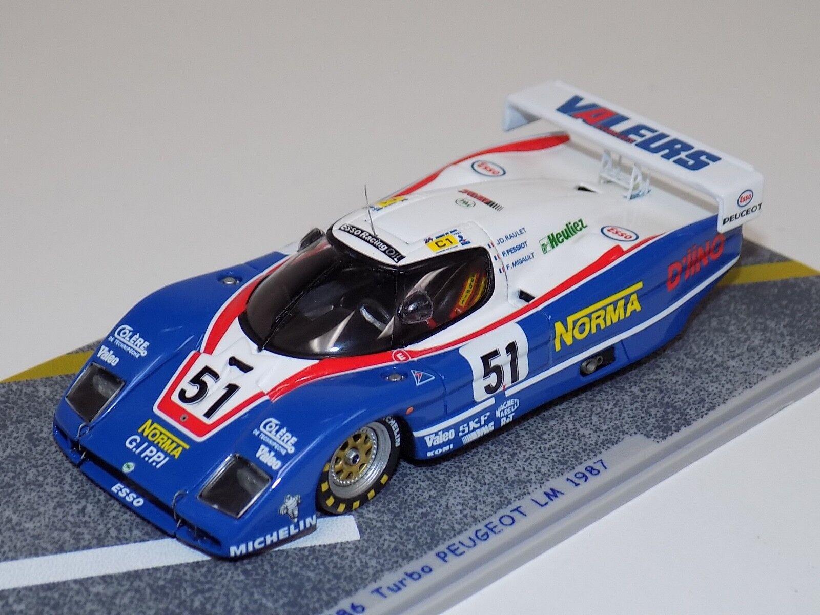 1 43 Bizarre WM P86 Turbo Peugeot   51 1987 24 Ore di Leuomos BZ392