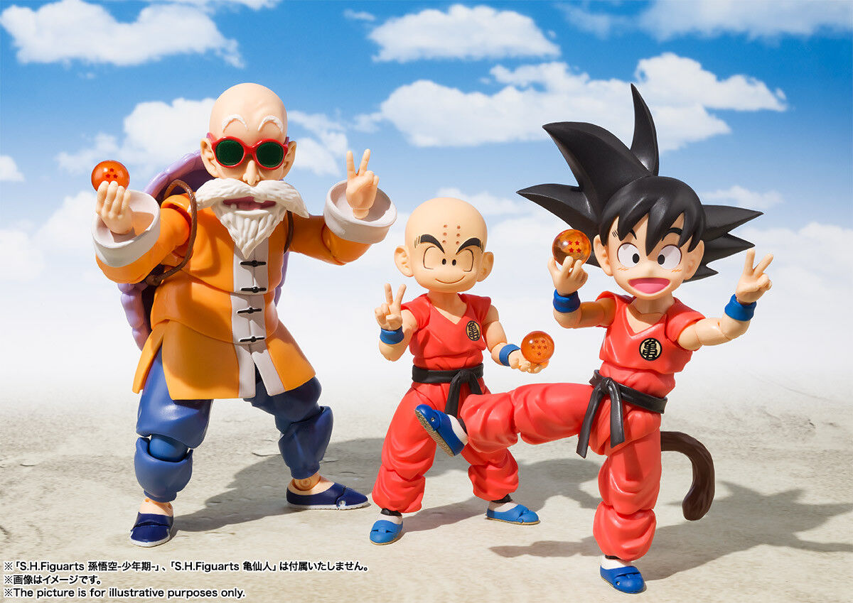 Bandai S.H. Figuart Son Goku Muñeco Kame Sennin conjunto versión japonesa