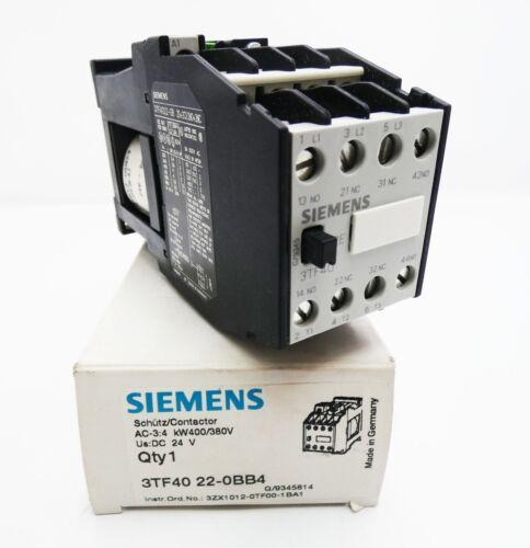 Siemens 3TF40 22-0BB4 3TF4022-0BB4 24VDC Schütz Contactor unused//OVP