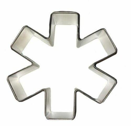"""Asterisk// Medical Cookie Cutter 3/"""" Doctor Nurse Hospital Emblem"""