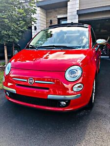2012 Fiat 500C Lounge Convertible, Automatic, Safetied, 44750KM