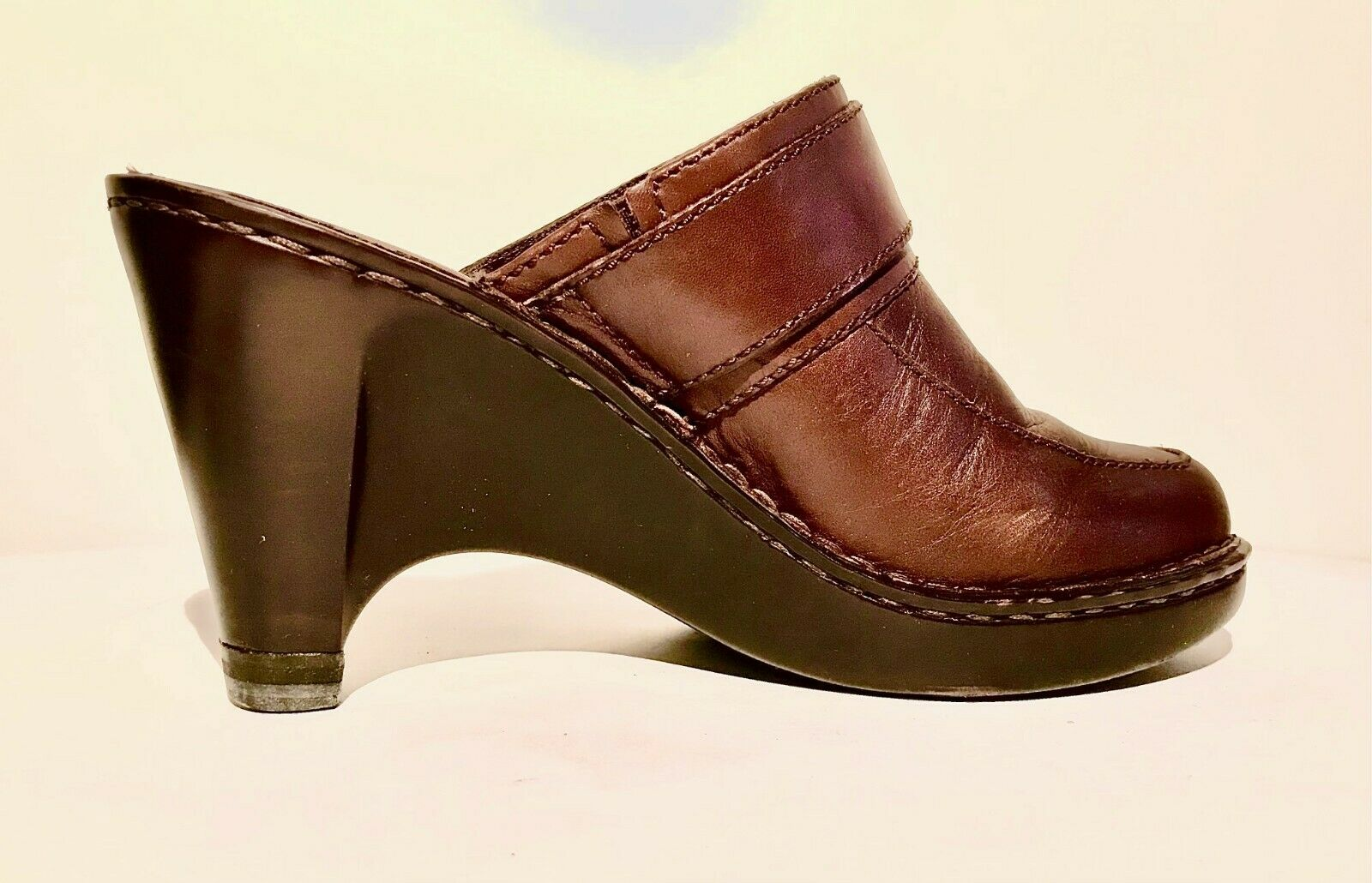 Born Leather Brown Sandals w/buckles Size 7/38 Wa… - image 2