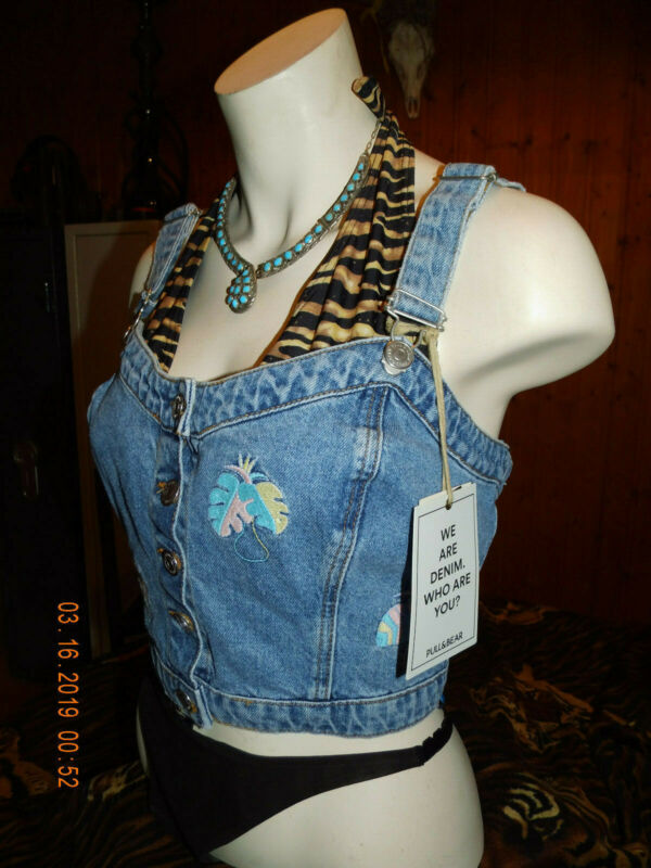 ZuverläSsig Neu! Jeans,mieder,corsage,bustier,weste,top Zu Lederhose,hippie,flower Power Eine GroßE Auswahl An Waren