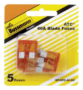 5-pk-Bussmann-Buss-40-amps-ATC-Blade-Fuse-Mini-Automotive-Car-Truck-BP-ATC-40-RP