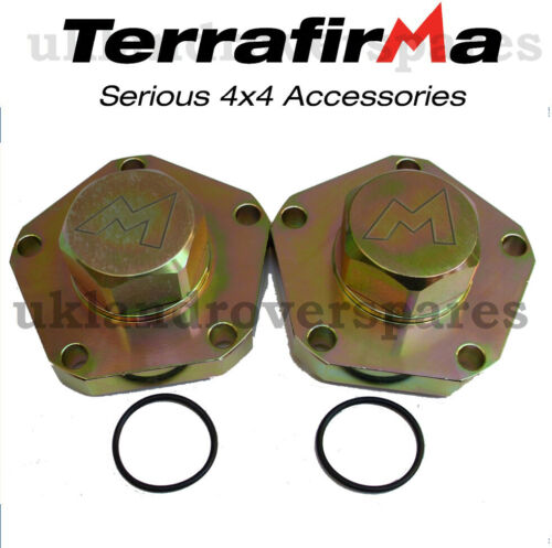 PAIR TERRAFIRMA LAND ROVER DISCOVERY 300TDI HEAVY DUTY DRIVE FLANGES 24 SPLINE