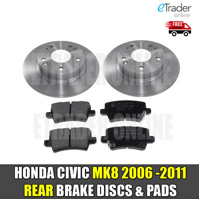 REAR BRAKE DISCS AND BRAKE PADS FITS HONDA CIVIC 1.4 1.8 2.2 CDTi 06-11