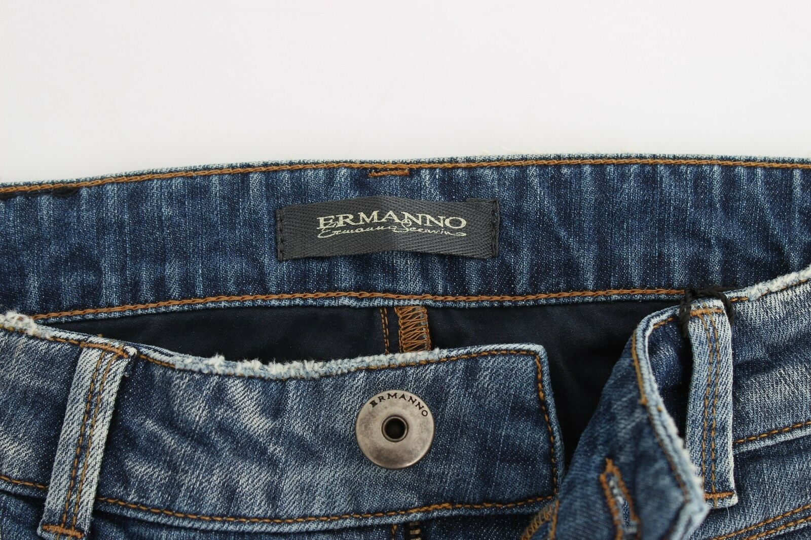 Nuevo    250 Ermanno Scervino Jeans Azul Slim Denim Pantalones Tramo Recto W26 IT40 9a99b0
