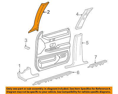 FORD OEM Interior-Winshield Pillar Trim Right 6W7Z5403598AAB