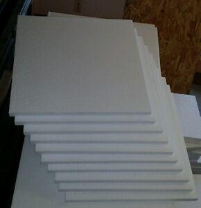 24pc 12 X12 X1 2 Styrofoam Polystyrene Flats Sheets