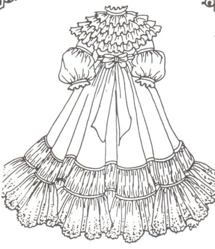 "SEWING PATTERN fits 1314"" DOLL DRESS Victorian French Little Darling 314"