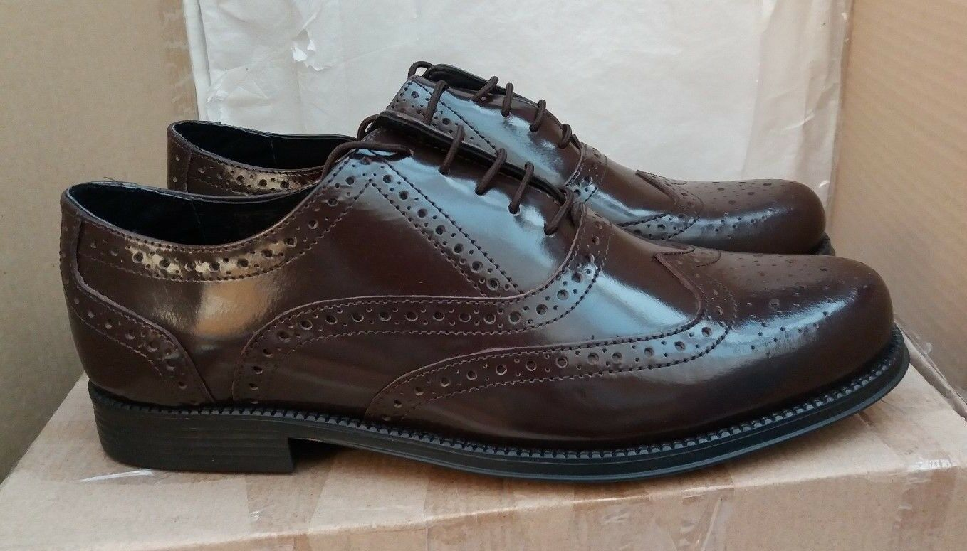 Clifford James braun Brogues - Genuine Leather Leather Leather Lace Up Größe UK 9.5  c82e6e
