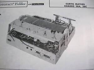 CURTIS-MATHES-38A-amp-38C-TUNER-RECEIVER-PHOTOFACT