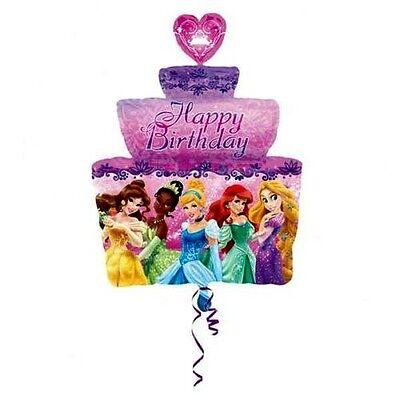 "Happy Birthday 28"" Disney Princesses Group Cake Shaped Mylar Foil Balloon- Party"