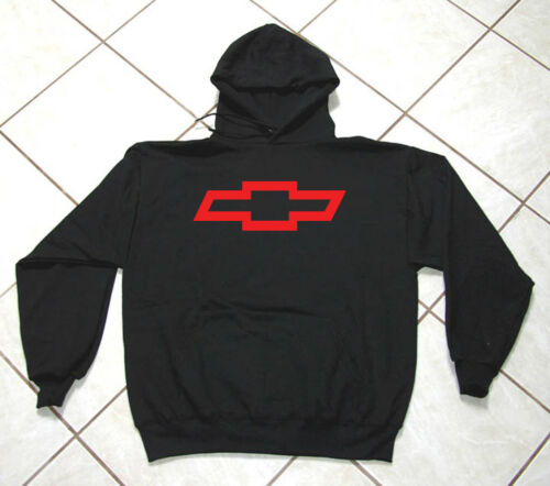 Hooded Sweat Shirt Gildan Black Auto Truck Chevy Bowtie SUV Motor Sports