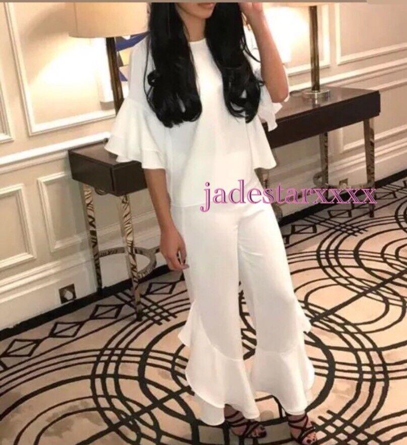 Zara White Frill Culottes New XS 6 BNWT